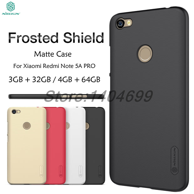 Xiaomi Redmi Note 5A PRO Case Nillkin Frosted Shield Back Cover Matte Case For Xiaomi Redmi Note 5A PRO Prime Y1