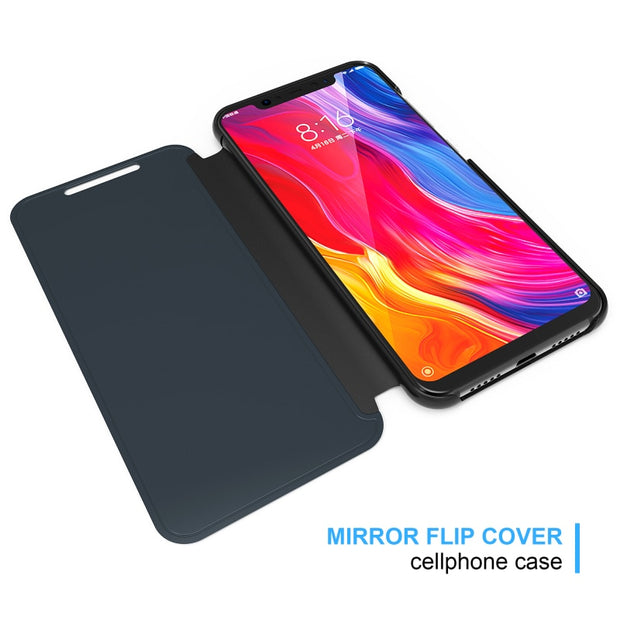 Xiaomi Redmi Note 6 Pro Case Smart Mirror View Flip Leather Full Cover For Xiaomi Redmi Note 6 Pro Phone Shell Fundas Coque Capa