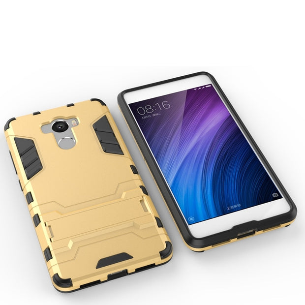 Xiaomi Redmi 4 4 Pro Case TPU & PC Silicone AIPUWEI Dual Armor Back Cover With Stand Case For Xiaomi Redmi 4 Pro Prime 5.0 Inch