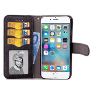 Xnyocn Luxury Leather Case For Apple Iphone 6 6S 4.7 Inch Cover For Iphone6 Stand Cases Flip Wallet With Card Slot Magnet