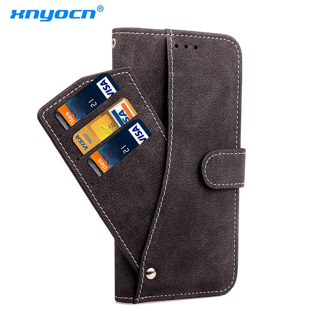Xnyocn Luxury Leather Case For Apple Iphone 7 Plus 5.5 Inch Cover For Iphone7 Plus Stand Cases Flip Wallet With Card Slot Magnet