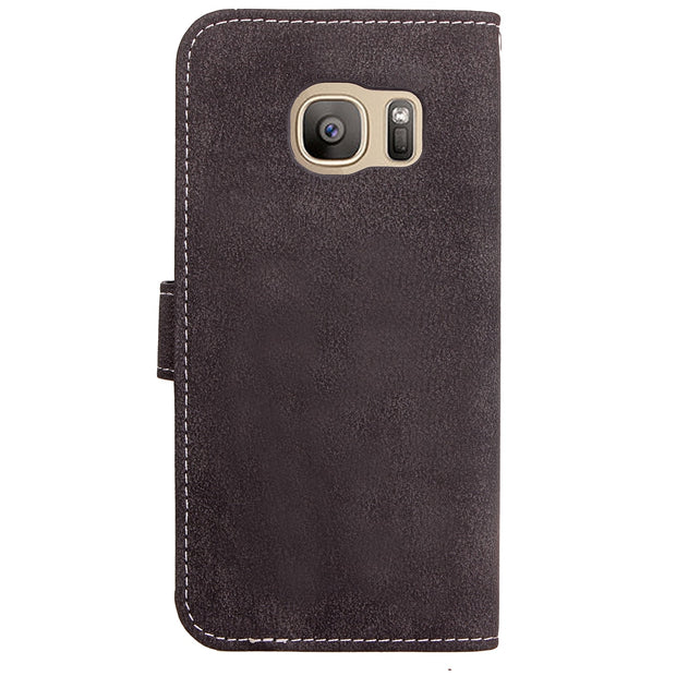 Xnyocn Luxury Leather Case For Samsung Galaxy S7 Edge 5.5 Inch Cover For G9350 Stand Cases Flip Wallet With Card Slot Magnet