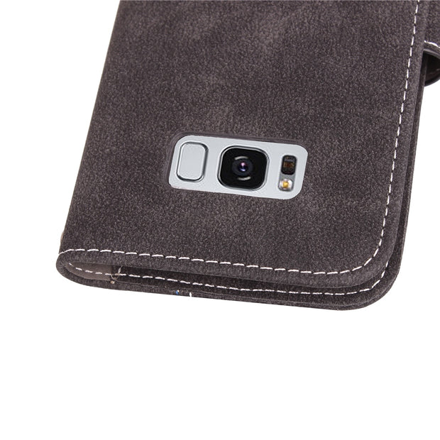 Xnyocn Luxury Leather Case For Samsung Galaxy S8 Plus 6.2 Inch Cover For G9550 Stand Cases Flip Wallet With Card Slot Magnet