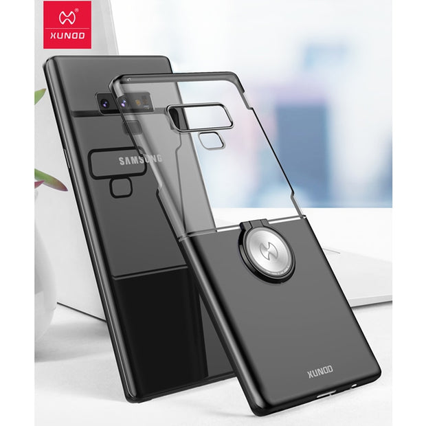Xundd Magnetic Car Holder Case For Samsung Galaxy Note 9 Note 8 Hard PC Back Cover Shell For Galaxy Note 9 Case With Ring Buckle