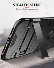 YCDC Anti-knock Kickstand Phone Case Armor Style PC TPU Hybrid Protector Cover Case For IPhone X/8/7/6S/6/5S/5