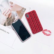 YESPURE Red Sexy Lips Mobile Phone Bags For Women For Iphone X Electroplating Soft Fancy Mobile Accessories Fundas