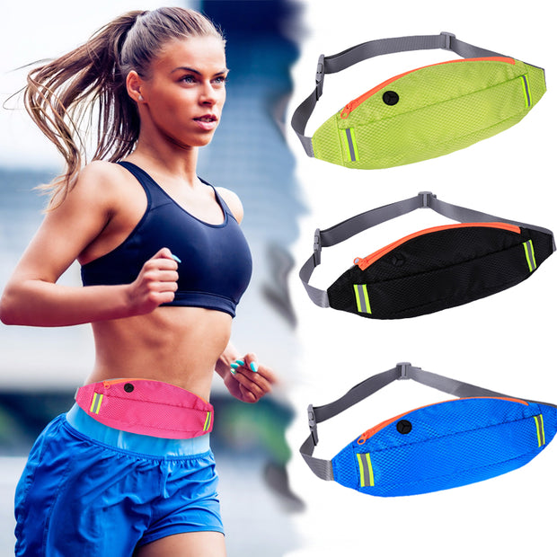 YNMIWEI Outdoor Running Waist Bag Waterproof Mobile Phone Holder Jogging Belt Belly Bag Women Gym Fitness Bag Lady Sport Accesso