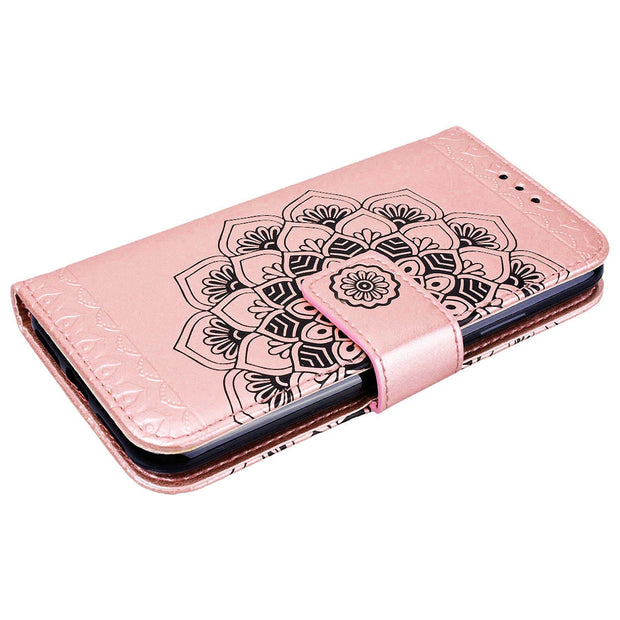 YOKATA Luxury Flip Leather Case For IPhone X Wallet Case For Lanyard Design Flower Back Cover For IPhoneX Phone Case For Girl