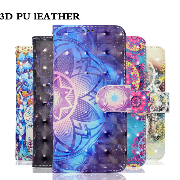 YOKATA Luxury Leather Flip Case For IPhone 6 6S Plus Wallet Case For 3D Pattern Design With Magnetic Case For IPhone 6sPlus