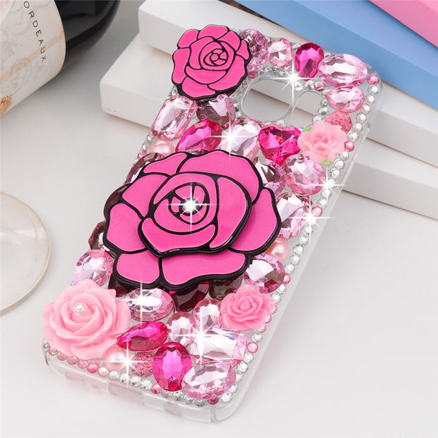YOKIRIN Bling Glitter 3D Diamond Crystal Back Cover Case For IPhone 6 6S 7 Plus Samsung Galaxy S5 S6 S7 Edge Plus Note 3 4 5