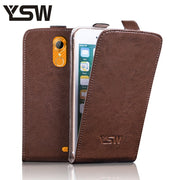 YSW For HOMTOM HT20 Genuine Leather Case Luxury Flip Superior Quality Cover