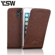 YSW For Wileyfox Swift 2 X Genuine Leather Case Flip Cover Free Gift For Wileyfox Swift 2X Suction Buckle