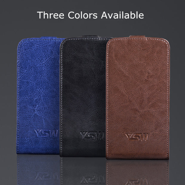 YSW For ZTE Blade X7 Genuine Leather Case Luxury Cover Superior Quality YOURSWAY