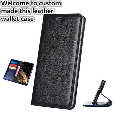 ZD01 Genuine Leather Wallet Case For IPhone XS Max(6.5') Flip Case For IPhone XS Max Phone Bag With Card Slots Free Shipping