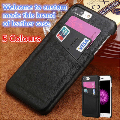 ZD09 Genuine Leather Half Wrapped Case For Oneplus 6(6.28') Cover For Oneplus 6 Phone Case With Card Holders Free Shipping