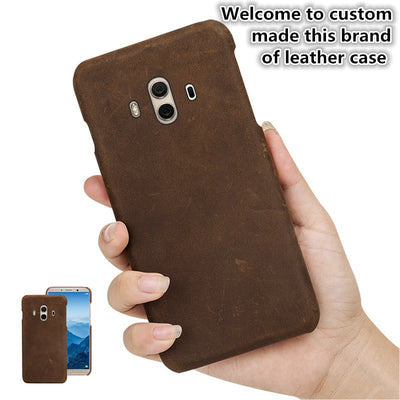 ZD10 Genuine Leather Half Wrapped Cover For Huawei Honor Play Back Case For Huawei Honor Play Phone Case Cover Free Shipping