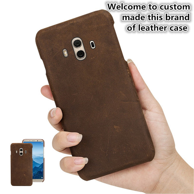ZD10 Genuine Leather Half Wrapped Cover For Xiaomi Mi MAX 3(7.0') Back Case For Xiaomi Mi MAX 3 Phone Case Free Shipping