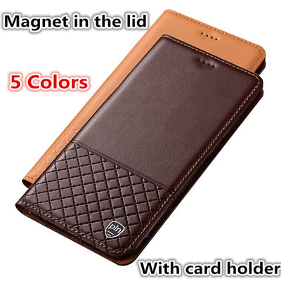 ZD11 Genuine Leather Phone Case With Card Holder For IPhone XS Max(6.5') Case For IPhone XS Max Phone Bag Free Shipping