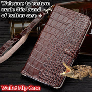 ZD13 Genuine Leahther Wallet Flip Case With Hand Strap For Meizu Pro 7 Plus(5.7') Phone Case For Meizu Pro 7 Plus Case