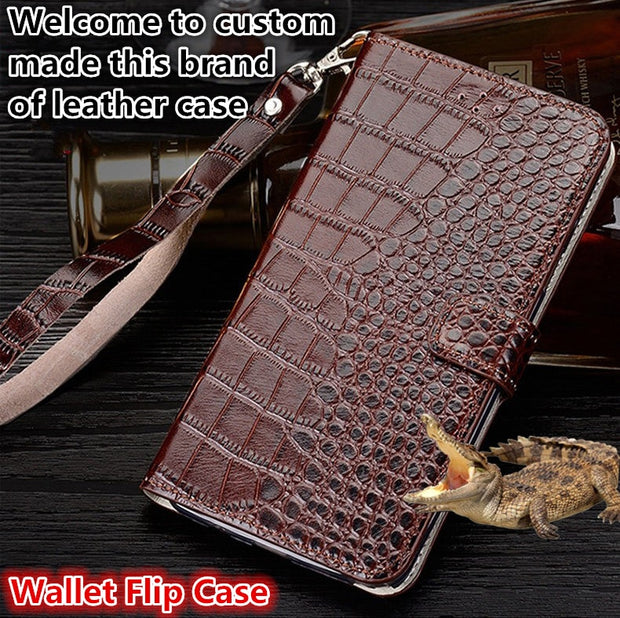 ZD13 Genuine Leahther Wallet Flip Case With Hand Strap For Sony Xperia XA1 Plus(5.5') Phone Case For Sony Xperia XA1 Plus Case