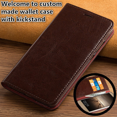 ZD15 Genuine Leahther Multifunctional Phone Bag For IPhone XS Max(6.5') Flip Case For IPhone XS Max Phone Case Free Shipping