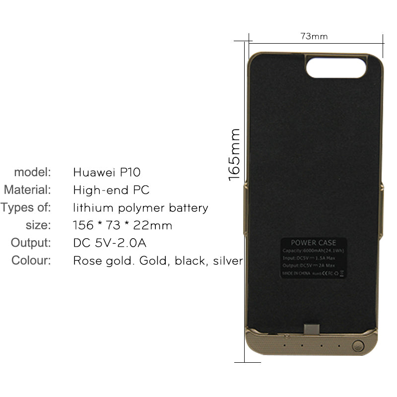 save off 65e18 3f6f5 ZUCZUG Extra Pack Battery Charger Case For Huawei P10 Power Bank Wireless  Charging Cases Cover Rechargeable Phone Case Battery