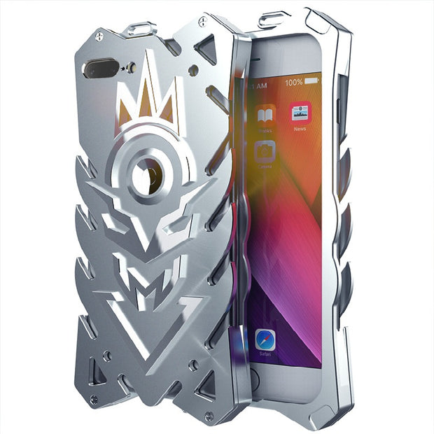 Zimon Aluminum Metal Magnetic Kickstand Phone Case For IPhone XS Max Powerful Outdoor Heavy Duty Back Cover For IPhone7 8 6 Plus