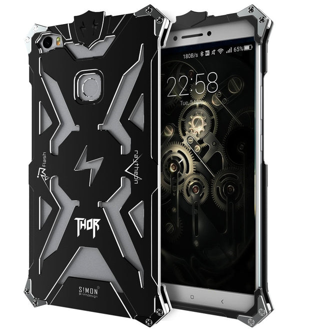 Zimon For Xiaomi Mi Max Brand Thor Series Case Luxury Heavy Duty Armor Metal Aviation Aluminum Phone Cover Cases For Xiaomi Max