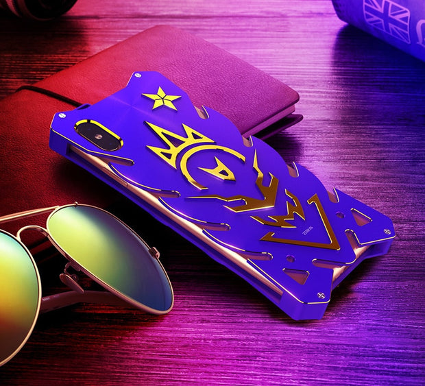 Zimon For IPhone XS MAX Case Luxury 3D Hard Aluminum Metal Bumper Protective Shockproof Back Cover Case For Apple XS Phone Case