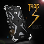 Zimon Luxury Heavy Duty Armor Phone Case For IPhone X 7 Plus 8 Plus Aluminum Metal Frame Shockproof Back Cover For IPhone XS Max