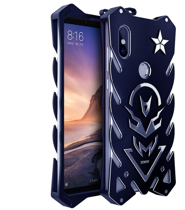 Zimon Original Design Armor Heavy Dust CNC Metal Aluminum THOR IRONMAN Phone Case For Xiaomi MI MAX 3 8 SE 6X 2S Shell Bag Cover