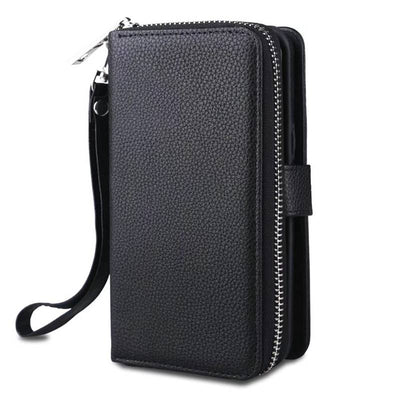 Zipper Purse Case For Samsung Galaxy S8 Plus Handbag Wallet Pouch PU Leather Detachable Back Cover Case For Samsung S8 S8Plus