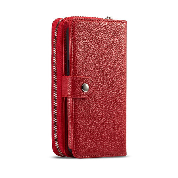 Zipper Removable Wallet Magnetic Bag Leather Case For IPhone Xs Max X 8 7 6 6S Plus Luxury Wallet Case For Iphone Xr Xs Case