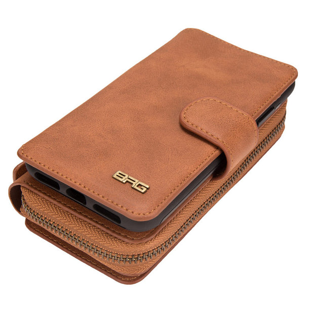 Zipper Removable Wallet Magnetic Bag Leather Case For IPhone Xs Max X 8 7 6 6S Plus Luxury Wallet Case For Iphone Xr Xs Bags