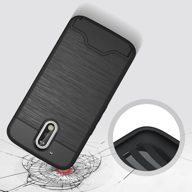 Armor Two In One Combo PC + TPU Card Bracket Phone Case For For Motorola G4 Cover For Moto G4 Plus 5.5inch Cases Capa