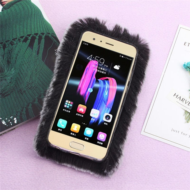 Black Mobile Phone Bags Cases Honor 9 Case With Rhinestones Protector For Cover Huawei Honor 9 Silicone