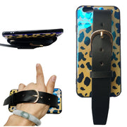 Case For Iphone XS MAX XR X 7 8 6 6S Plus Case Cover Luxury Leopard Wristband Holder Blue Ray Soft Silicon Protective Phone Bag