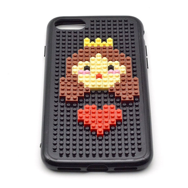 For Apple IPhone 6 6S Plus 7 / 7 Plus Case Cute Cartoon Prince Princess Brick DIY Plastic Hard Phone Cover For IPhone 7 Plus