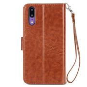 For Huawei P20 Flip Case 9 Card Slot PU Leather Wallet Stand Cases Pouch Purse Fundas Case Cover For Huawei P20