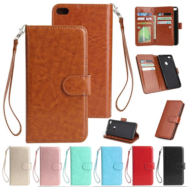 For Huawei P8 Lite 2017 Flip Case Honor 8Lite 9 Card Slot Leather Wallet Pouch Purse Fundas Case Cover For Huawei P8 Lite 2017