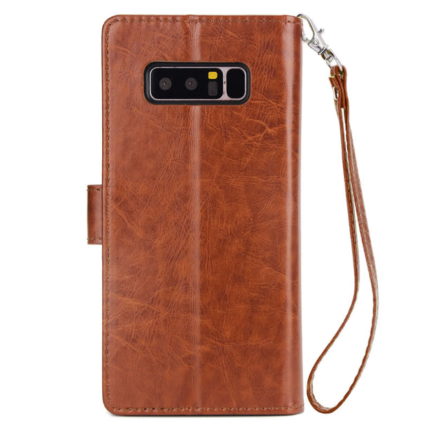 For Samsung Galaxy Note 8 Flip Case Note8 9 Card Slot PU Leather Wallet Cases Pouch Purse Fundas Case Cover For Galaxy Note 8