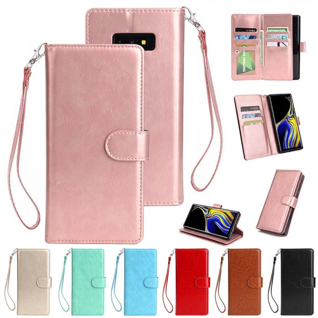 For Samsung Galaxy Note 9 Flip Case Note9 9 Card Slot PU Leather Wallet Cases Pouch Purse Fundas Case Cover For Galaxy Note 9