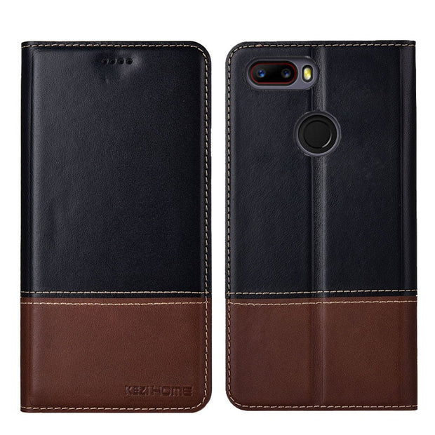 outlet store a2947 73ff0 For ZTE Blade V8 Mini Case Two-tone Flip Genuine Leather Soft Silicon Back  Cover For ZTE V8 Mini Cases