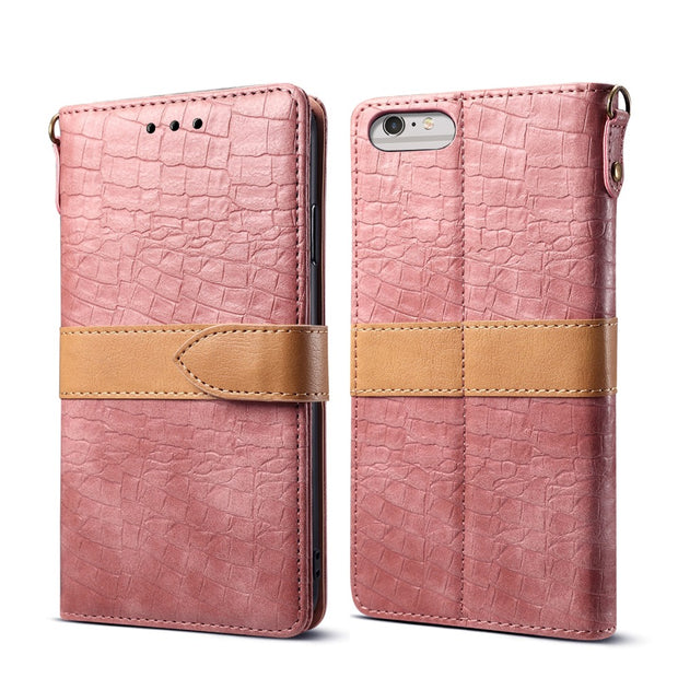For Apple Iphone 6 6s Plus Flip Wallet Leather Cover Case For Coque IPhone 6 6s Luxury Magnet Phone Bag With Card Slots Shell