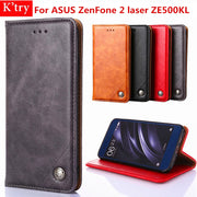 For Asus ZE500KL Cases Business Book Style Card Holder Wallet Case For ASUS ZenFone 2 Laser ZE500KL Mobile Phone Bag Fundas
