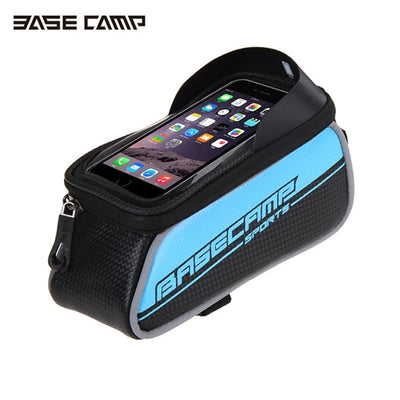 For IPhone 8 7 6s Plus Sport Mountain Bike Bicycle Waterproof Touch Screen Bags Panniers Front Frame Road Cycling Phone Bag
