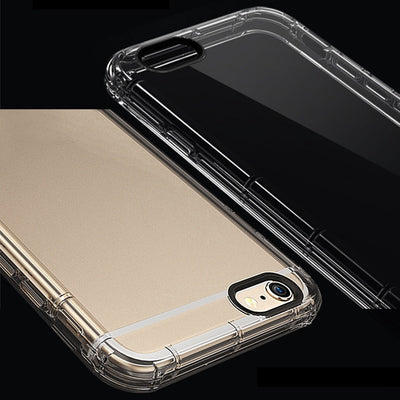 For Iphone 7 Iphone 8 Plus Case Transparent Silicon Clear TPU Shockproof Case For Iphone 6S 6 Plus 5 Cover 10pcs/lot Wholesale
