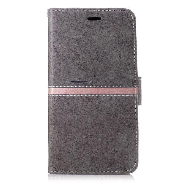 "Gray Cover For Xiaomi Redmi Note 4 5.5"" Shell Case Folio PU Leather Holder With Magnetic Closure For Xiaomi Redmi Note4"