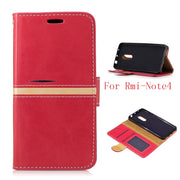 "Hot Sale Cover For Xiaomi Redmi Note 4 5.5"" Shell Case Folio PU Leather Holder With Magnetic Closure For Xiaomi Redmi Note4"