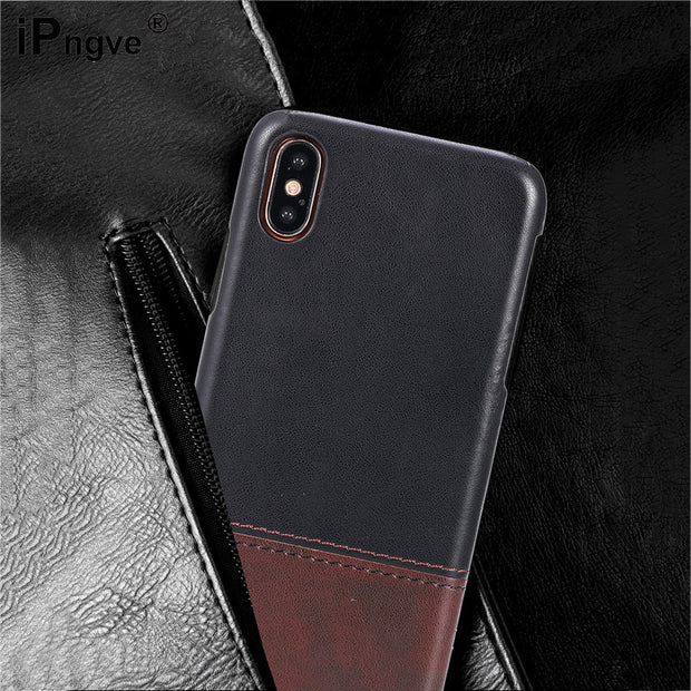 Ipngve Luxury For IPhone 7 8 Plus Case Cover Soft TPU+PC Case Back Cover For IPhone X 8 7 6 6S Plus Phone Bag Coque